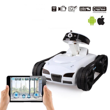 RC Tank Car 777-270 Shoot Robot With 0.3MP Camera Wifi IOS Phone Remote Control Mini Spy Tanks Toys For Children