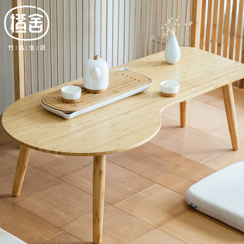 Zen 39 s bamboo clouds tea table modern simple design coffee for Simple table design html