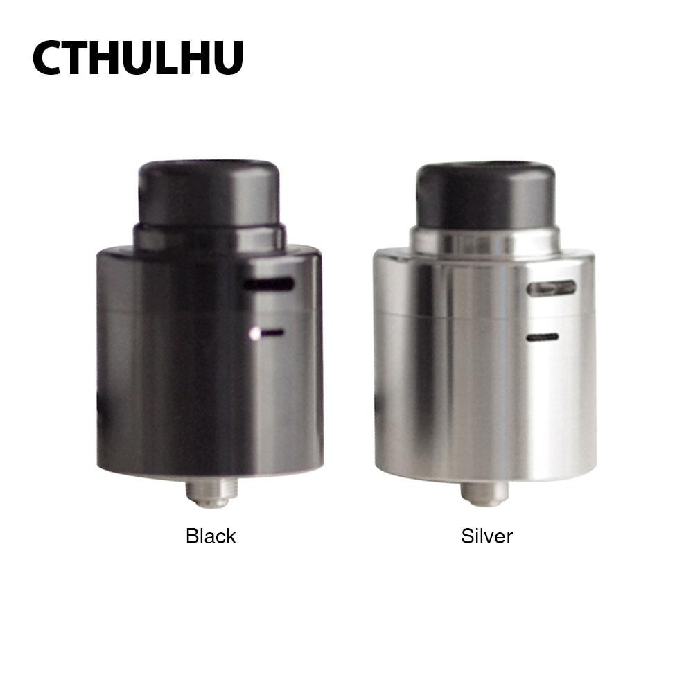 Original Cthulhu Zathog RDA Atomizer Dual Coil 30mm Diameter fit Squonk MOD Top/Side Airflow 810 Drip Tip E-cig Vape RDA Tank