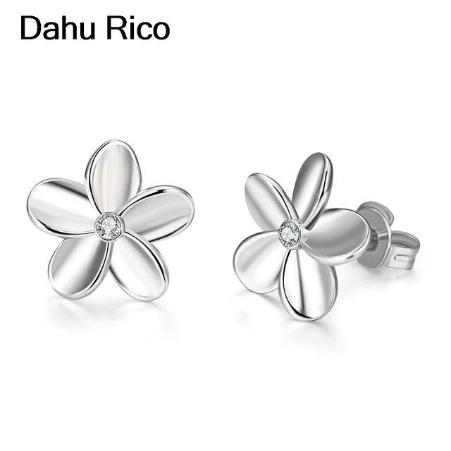 21aaffb89 pendientes flor flower korean fashion online shopping india unicorn earrings  jewelry gold color Dahu Rico stud earrings
