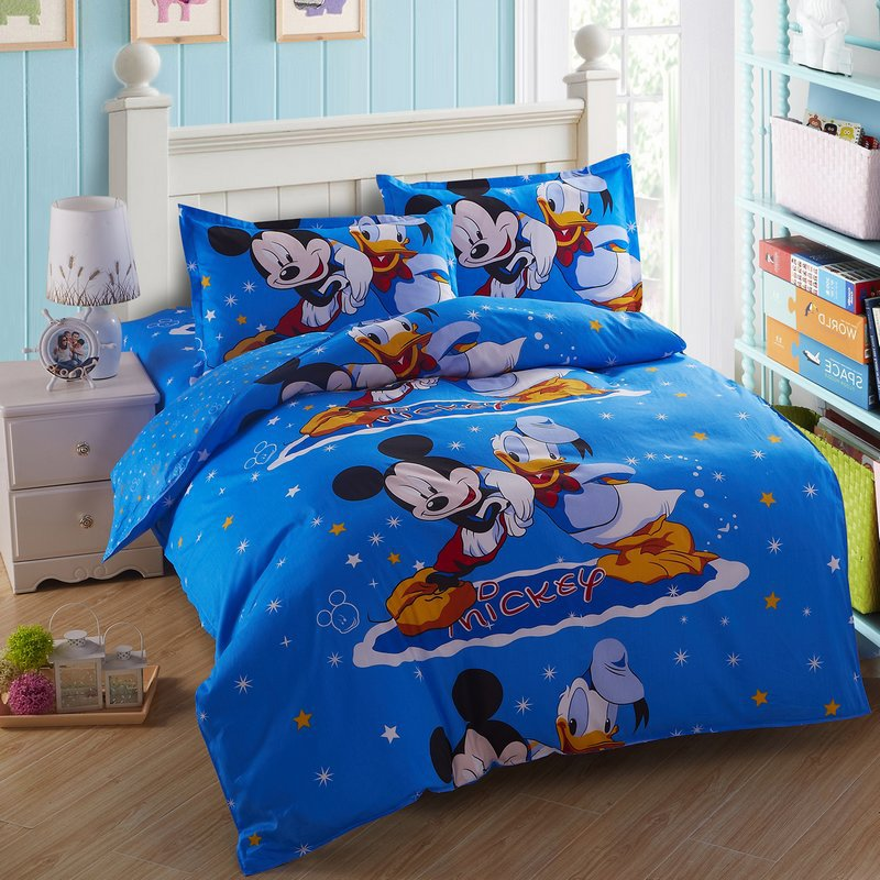 popular mickey mouse comforter sets buy cheap mickey mouse comforter sets lots from china mickey. Black Bedroom Furniture Sets. Home Design Ideas