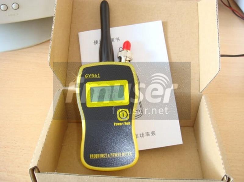 FMUSER подлинный Портативный ручной GY561 счетчик частоты Мощность метр 1 МГц-2400 МГц 0,1 Вт-50 Вт для 2-х полосный радио