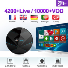 IP TV France Arabic SUBTV 1 Year IPTV Box HK1 MINI+ Android 9.0 2G+16G BT Dual-Band WIFI IPTV France Arabic Canada Italy Code subtv code iptv france arabic italy canada hk1 plus android 8 1 2g 16g 2 4ghz wifi iptv france arabic italy canada subtv iptv