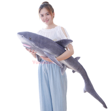 Big size Shark/Bluefin tuna soft plush toys Funny Soft Bite Shark Stuffed Pillow Appease Cushion Gift Kids toys