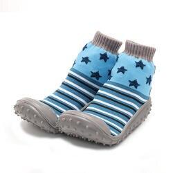 KiDaDndy/Детские носки на нескользящей резиновой подошве; мягкая хлопковая обувь для малышей; обувь для мальчиков в помещении; обувь для