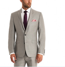 New Arrival One Button Groom Tuxedos Notch Lapel Men's Suit Hot Pink Groomsman/Best Man Wedding/Dinner Suits (Jacket+Pants)
