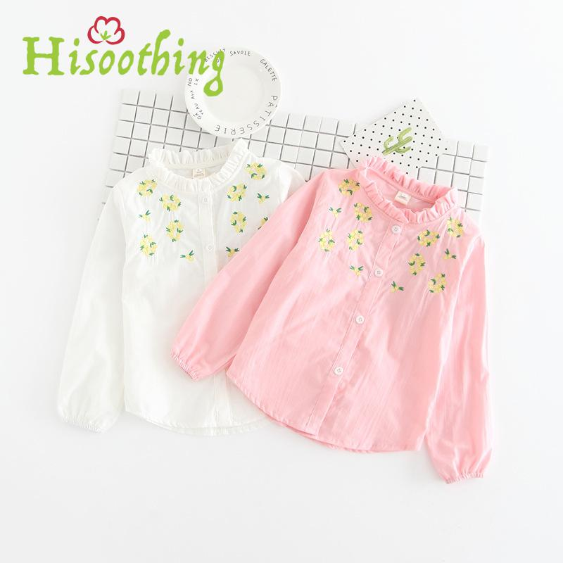 Girls, Fold, Kids, White, Floral, Cotton