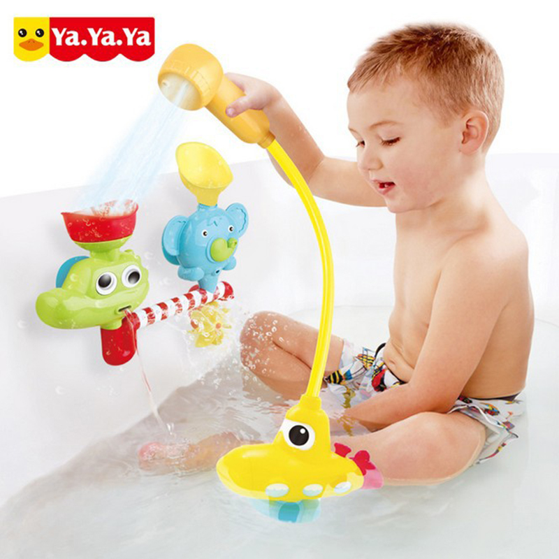 Baby Electric Bath Toys Happy Submarine Shower Rotating Faucet ...