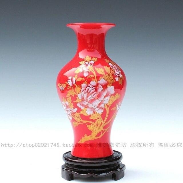 Aliexpress Buy Jingdezhen Ceramic Modern Fashion Red Vase