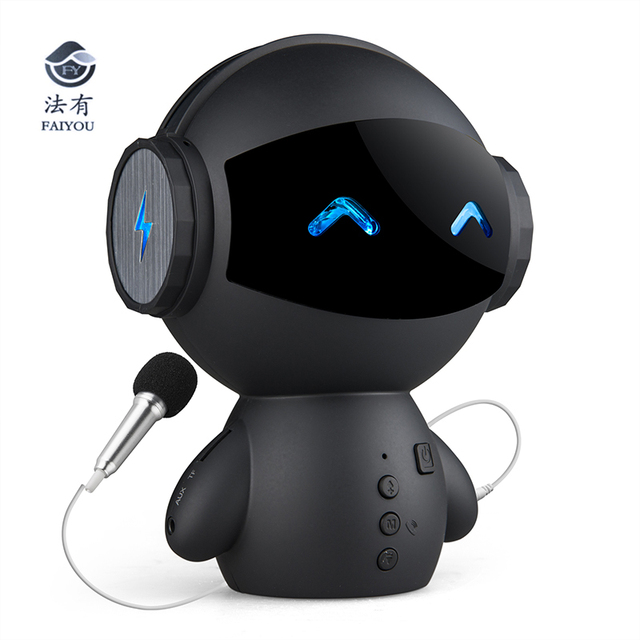 Bluetooth Wireless Cartoon Robot Portable Mini Bluetooth Speakers Stereo Music Loudspeakers Power Bank Player Receive