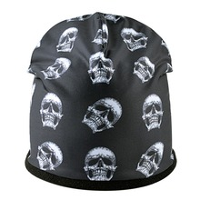 Skull Patterned Beanie Cotton