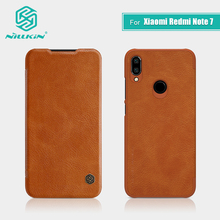 Redmi Note 7 Case 6.3 inch NILLKIN Vintage Qin Flip Cover wallet PU leather PC back cover for Xiaomi Redmi Note 7 Pro Case 7S