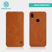 Redmi Note 7 étui 6.3 pouces NILLKIN Vintage Qin rabat couverture portefeuille en cuir PU PC couverture arrière pour Xiaomi Redmi Note 7 Pro étui 7S