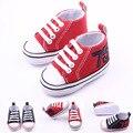 Zapatos de bebé de primavera otoño girls & boys del bebé Con estilo de lona zapatos recién nacidos Suaves cómodas antideslizantes para caminar los bebés bebé zapatos