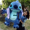 Dorimytrader 35'' / 90cm Large Anime Stitch Toy Gift Stuffed Soft Plush Giant Cartoon Stitch Doll Christmas Present DY60156
