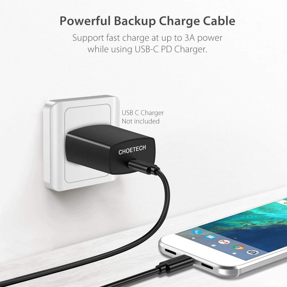 USB Type C Cable 3m 2m 1m 0.5m Mobile Phone Usb C Cables USBC to USBC CHOETECH