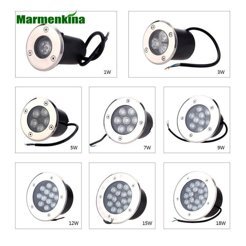 Lights & Lighting Hot Sale 1w/3w/5w/6w/7w/9w/12w/15w/18w Led Outdoor Ground Light Garden Path Floor Underground Buried Yard Lamp Ac85-265v Ip67 Led Underground Lamps