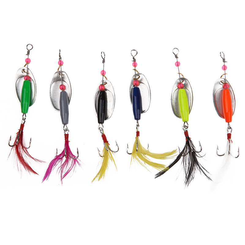 6pcs/Lot 18cm 7.71g Spoon Metal Fishing Lures Set Spinner Baits CrankBait Bass Tackle Hook 6 colors Fish Artificial Baits BHU2 3pcs lot fishing lures mixed set minnow crankbaits topwater popper hook lure spinner baits crankbait bass wobbler tackle hook