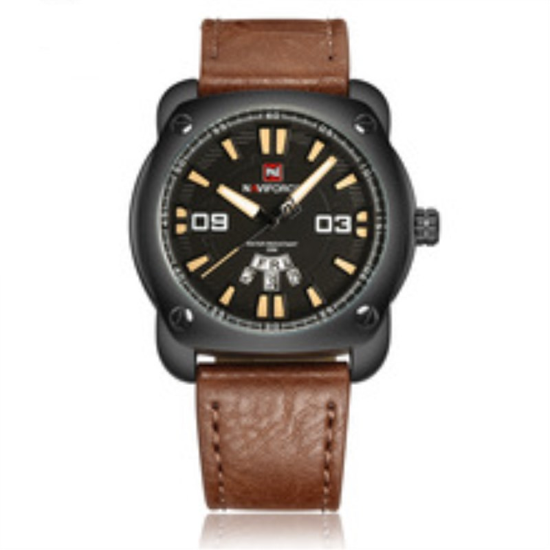 2018 New Watch Men Sport Mens Watches Top Brand Luxury Military Army Business Leather Band Quartz Male Clock Relogio NAVIFORCE цена и фото
