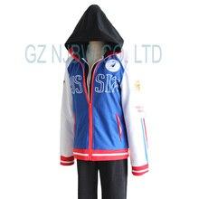 Anime Yuri!!! on Ice Plisetsky Yuri Sportswear Set Cosplay Costumes Halloween Mens Outfit Jacket hoodies pants 3pcs set