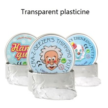 Liquid Glass Putty Transparent Bounce Slime Slime Toys Modeling Clay Plasticine DIY Craft Silly Putty For Kids Education Fluffy