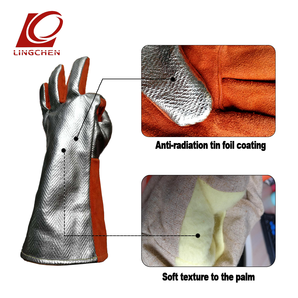 Welding Gloves Genuine Leather Gloves Real Cowhide Puncture Resistance Snake-proof Cut Proof Heat Resistant Welder Mitts europe and the authentic proof cut glove cut against blade puncture proof black cloth gloves gloves category 5 wire page 8