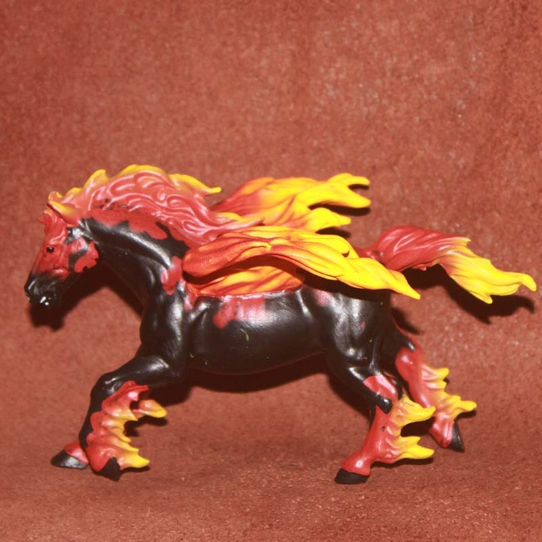 pvc  figure Myths and legends animal models plastic scene Decoration Agni Pegasus children 's toys myths and folklore in mauritius