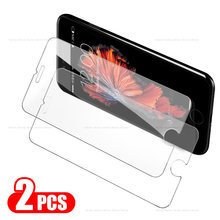 2 Pcs Vidro Temperado Protetor de Tela Para o iphone XS Max X 7 8 6 6 s S Plus XR SE 5 S 5S 5C 4 4S en Verre trempe ecran protecteur