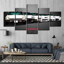 HD Printed 5 panels GTR Car Z race car  Paintings Canvas Wall Art Pieces posters Framework F1547