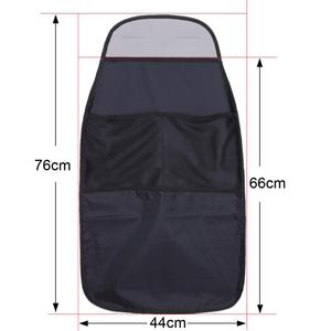 Image 2 - Car Seat Cover Protector Organizer Waterproof Storage Bag Universal Car Seat Back Scuff Dirt Protect For Kid Children Kick Mat