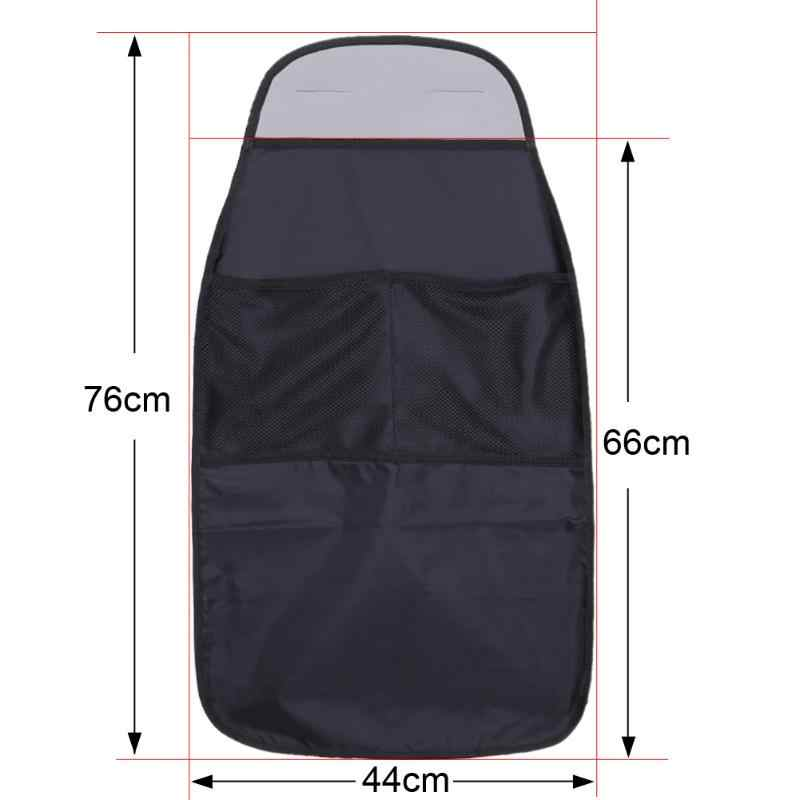 Pelindung Kursi Mobil Organizer Tahan Air Tas Penyimpanan Universal Kursi Mobil Kembali Lecet Kotoran Lindungi untuk Anak Anak Kick Mat