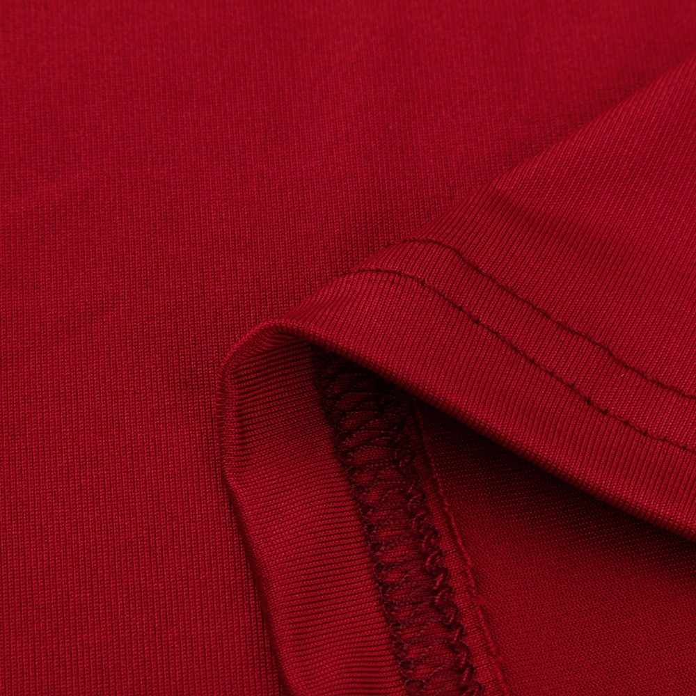 Musim Gugur Musim Dingin Wanita Lengan Panjang Bertali Bahu Dingin Atasan Kemeja Wanita Pendek O-Leher Atas Tee Feminina Camiseta