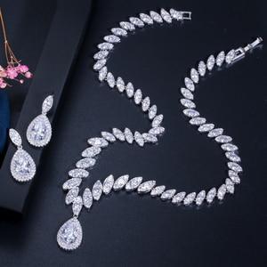 Image 5 - CWWZircons circonita cúbica de gota de agua nigeriana, cristales rojos, conjuntos de joyería para regalo de boda, para damas de honor, T110