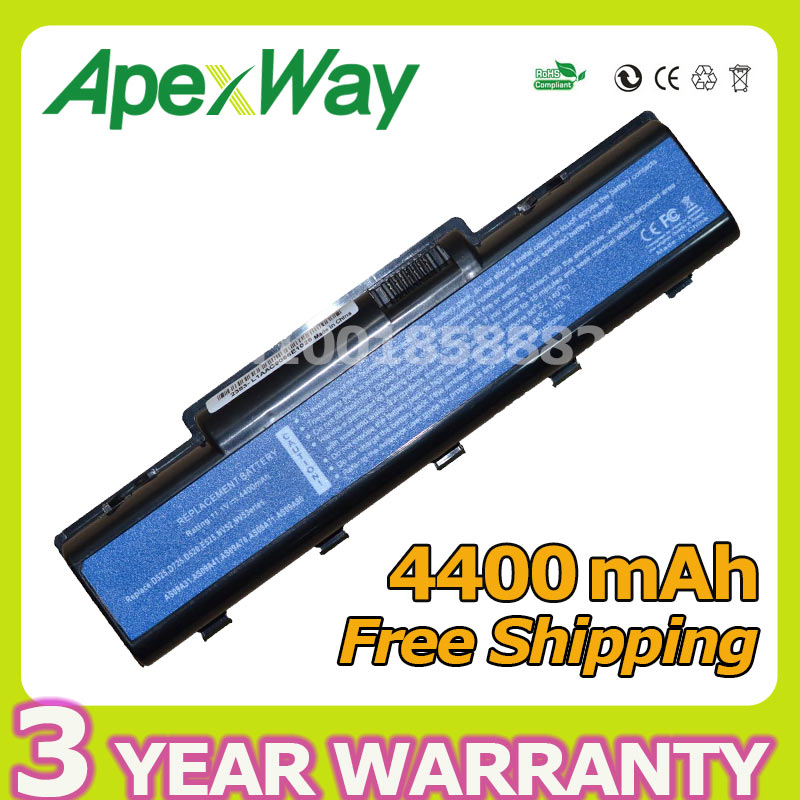 Apexway 6 cells 4400mAh 11.1v Laptop Battery for Acer AS09A31 AS09A41 AS09A71 for eMachines E725 E525 E525 E725 for Aspire 5732Z cltgxdd us 050 usb jack for lenovo g550 g550a g550g g550m g550 for acer aspire 5743z emachines e520 e525 e725