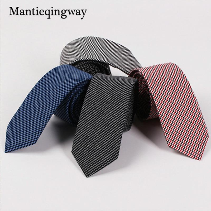 Mantieqingway 6.5cm férfi öltöny szabadidő vékony nyak nyakkendő divat klasszikus vőlegény esküvői party gravatas vékony nyakkendő vestidos cravat