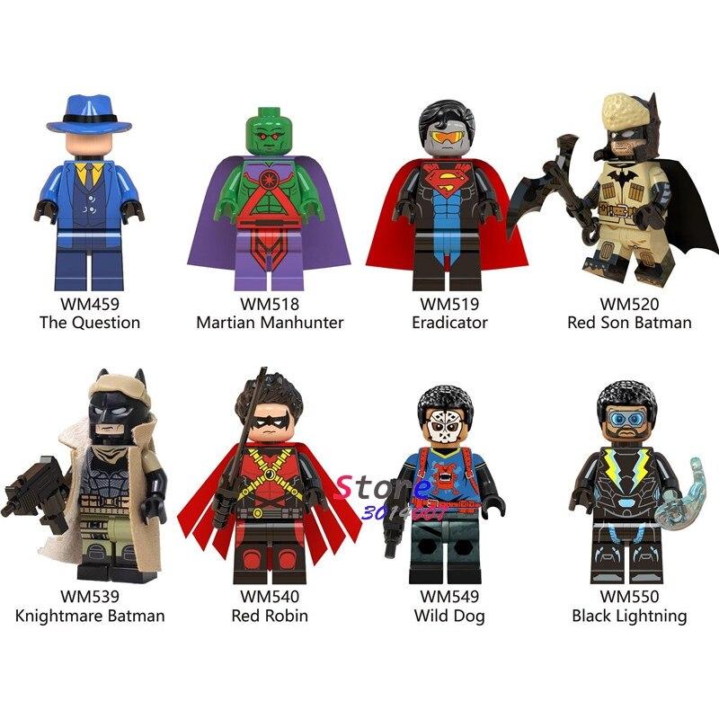 50pcs Building Blocks Red Son Knightmare Batman Black Lightning Wild Dog Wild Dog Robin Question for