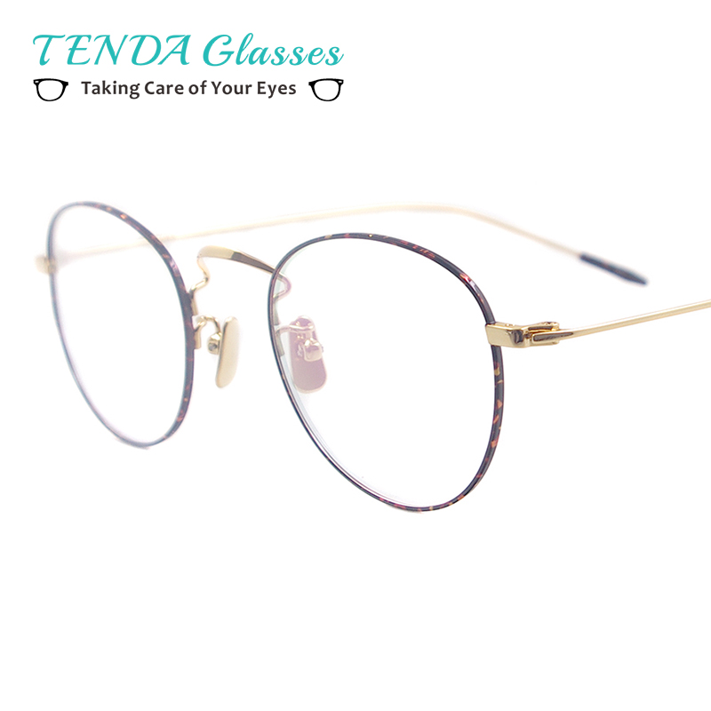 17c53abd468 Men Oval Eyewear Women Metal Fashion Small Eyeglass Frame For Prescription  Multifocal Lenses