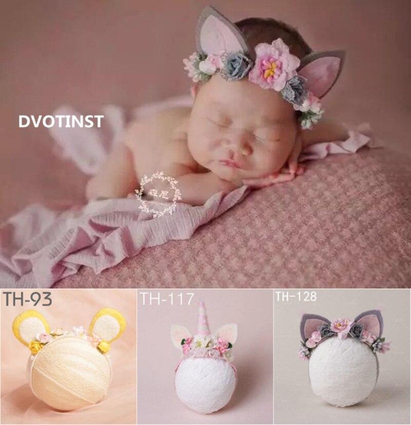 Dvotinst-accessoires de photographie nouveau-né Baby   Oreilles jolies Unicornio bandeau serre-tête, coiffure Fotografia accessoires de décoration Studio pour tournage