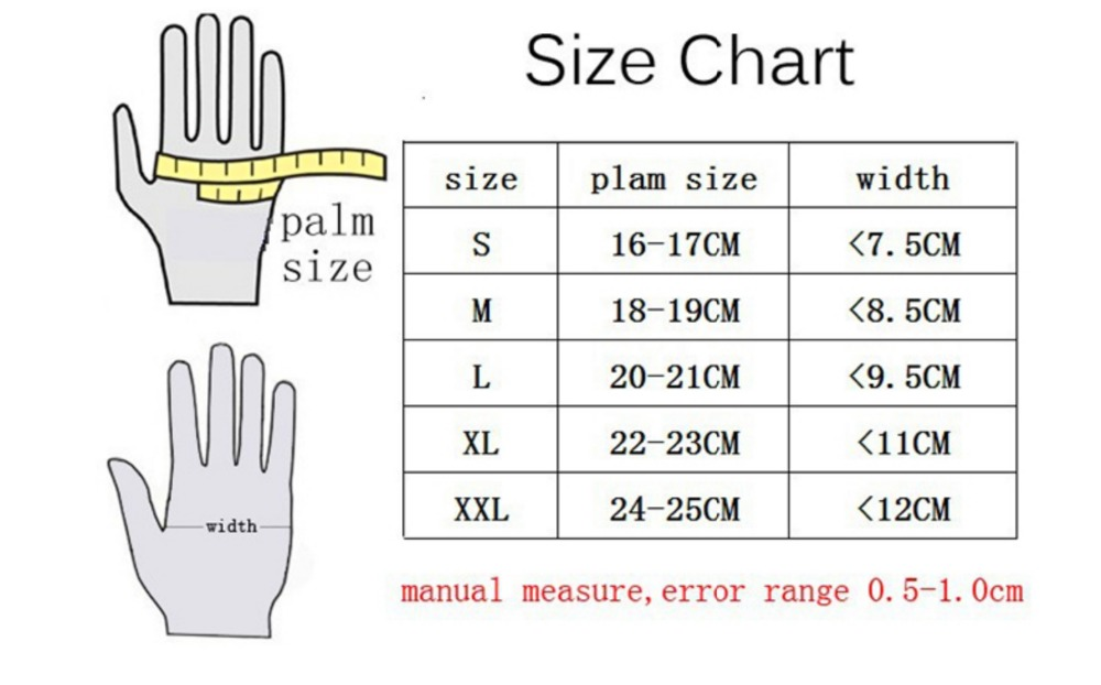 REV'IT! Dirt 2 Gloves size chart