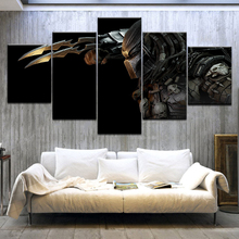 5 Panel/pieces HD Print Alien Vs. Predator Painting wall posters Print On Canvas Art Painting For home living room decoration худи print bar ом alien