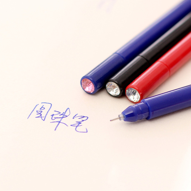 4 Pcs/lot 0.5mm Blue Red Ink Colored Gel Ink Pen For Student Exame