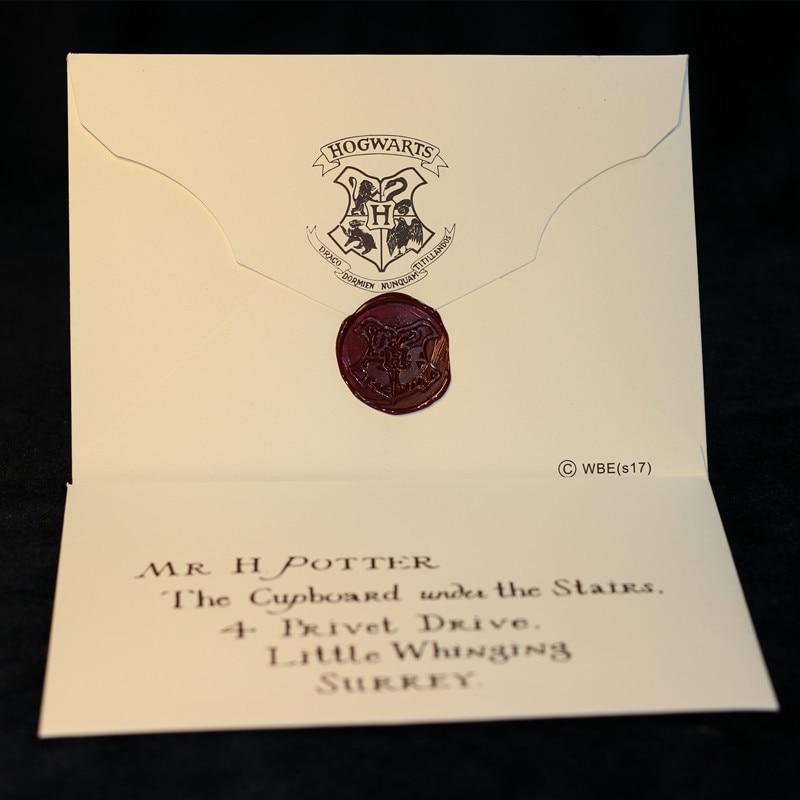 2019 Harry Potter Hogwarts entrada Carta sobre regalo de Harry Potter carta de admisión de negocios sobre