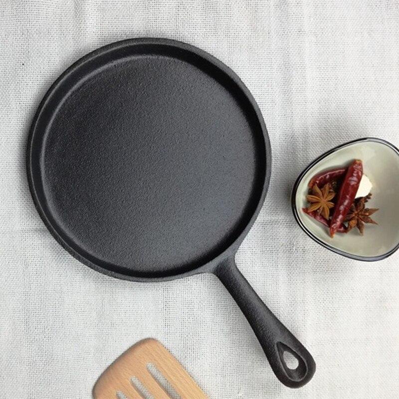 13cm/16cm/ 20cm Non-stick Frying Pan Iron Cast Thickened Omelette Steak Minute Cooker Nonstick Skillet
