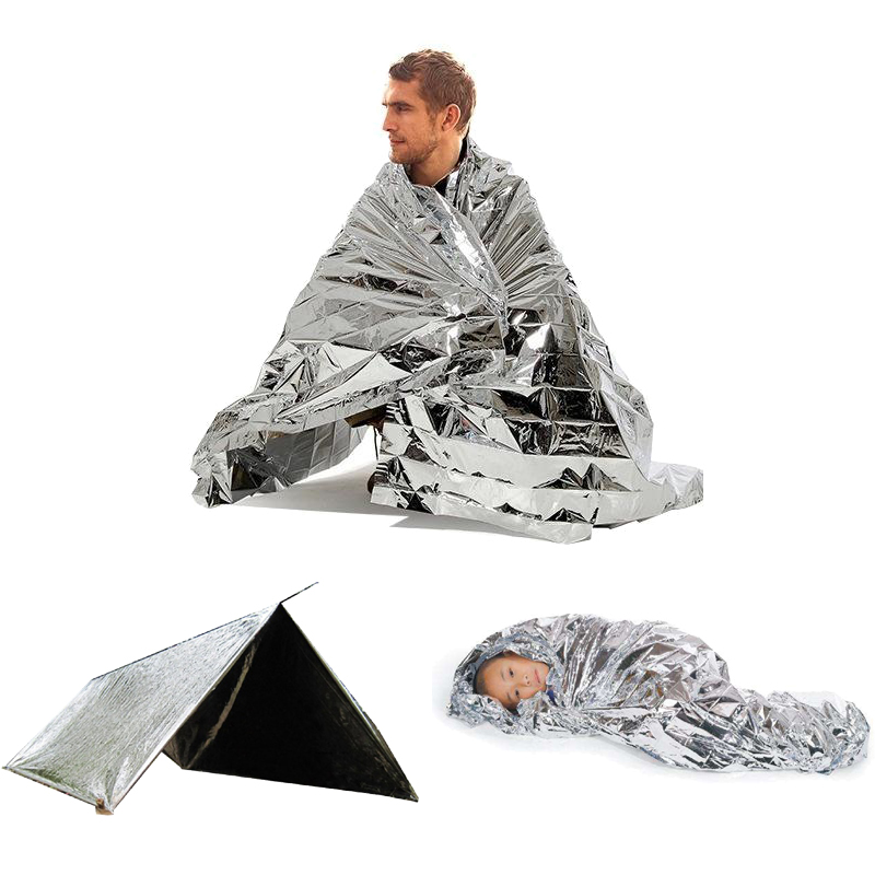 Outdoor Camping Emergency Space Blanket Survival Rescue Insulation Aluminum Foil Camping Malay Survival Thermal Blankets