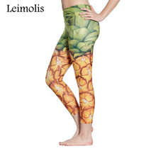 3D Pineapple Design Beach Leggings