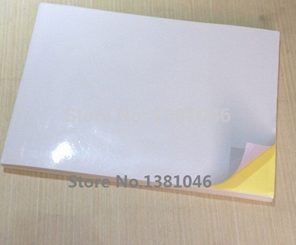 A4 Glossy White Printable Self Adhesive Sticky Label Sticker Paper For Laser Printer 210 x 297mm 3 To 30 Sheets matte white a4 kraft paper self adhesive square print label stickers library book shipping labels for laser inkjet printer
