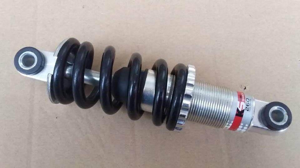 Original ks260 160mm 650*38 bicicleta plegable MTB Suspensión de resorte amortiguadores traseros