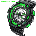SANDA Brand Military Watch Casual LED Digital Watch Multifunctional Wristwatches 30M Waterproof Student Clock Men Sports Watches