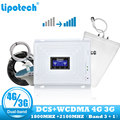 Lintratek Set Dual-band 2g 3g 4g LTE Repeater 1800 2100 MHz GSM DCS WCDMA mobile signal cellular booster power verstärker wifi