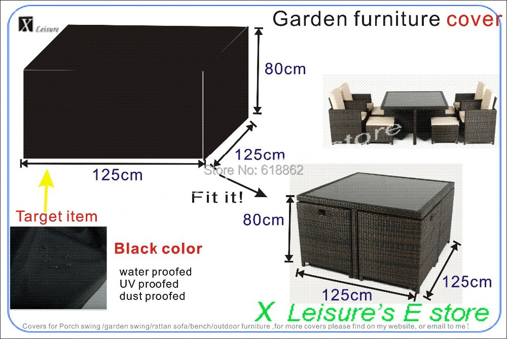 rattan furniture covers. Garden Rattan Furniture Set Cover,125x125x80 Cm Cover,water-proofed Cover Covers C